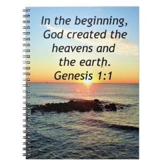 AWE-INSPIRING GENESIS 1:1 SUNRISE PHOTO DESIGN NOTEBOOK