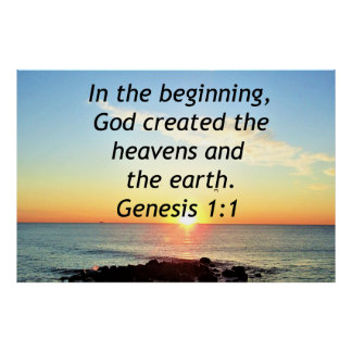 AWE-INSPIRING GENESIS 1:1 SUNRISE PHOTO DESIGN POSTER