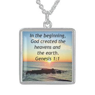 AWE-INSPIRING GENESIS 1:1 SUNRISE PHOTO DESIGN STERLING SILVER NECKLACE