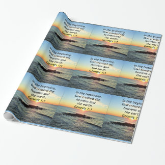AWE-INSPIRING GENESIS 1:1 SUNRISE PHOTO DESIGN WRAPPING PAPER