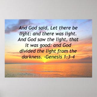 AWE-INSPIRING GENESIS 1:3 SUNRISE PHOTO DESIGN POSTER