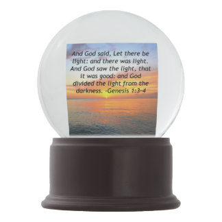AWE-INSPIRING GENESIS 1:3 SUNRISE PHOTO DESIGN SNOW GLOBE