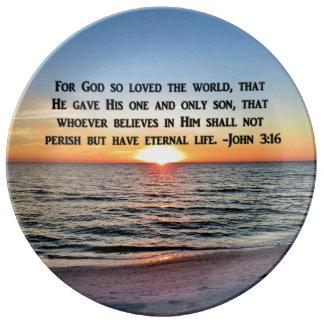 AWE INSPIRING JOHN 3:16 PORCELAIN PLATE