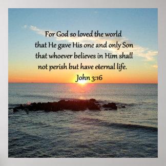 AWE-INSPIRING JOHN 3:16 SUNRISE POSTER