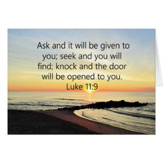 AWE-INSPIRING LUKE 11:9 SUNRISE PHOTO CARD