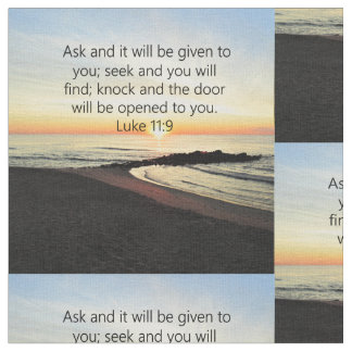 AWE-INSPIRING LUKE 11:9 SUNRISE PHOTO FABRIC