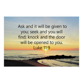 AWE-INSPIRING LUKE 11:9 SUNRISE PHOTO POSTER