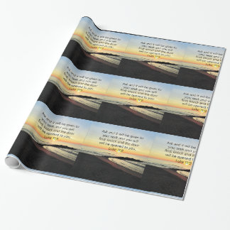 AWE-INSPIRING LUKE 11:9 SUNRISE PHOTO WRAPPING PAPER