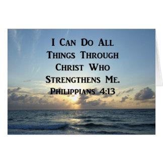 AWE-INSPIRING PHILIPPIANS 4:13 SCRIPTURE VERSE CARD