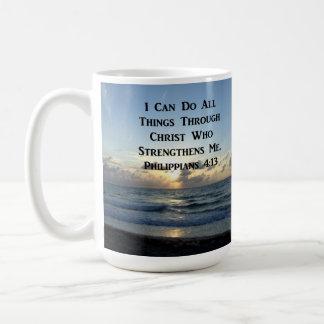 AWE-INSPIRING PHILIPPIANS 4:13 SCRIPTURE VERSE COFFEE MUG