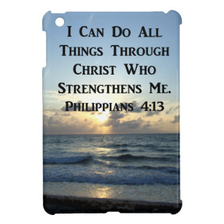 AWE-INSPIRING PHILIPPIANS 4:13 SCRIPTURE VERSE iPad MINI COVER