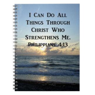 AWE-INSPIRING PHILIPPIANS 4:13 SCRIPTURE VERSE NOTEBOOKS