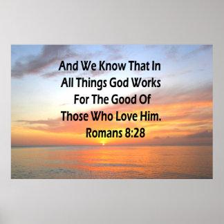 AWE-INSPIRING ROMANS 8:28 SCRIPTURE VERSE POSTER