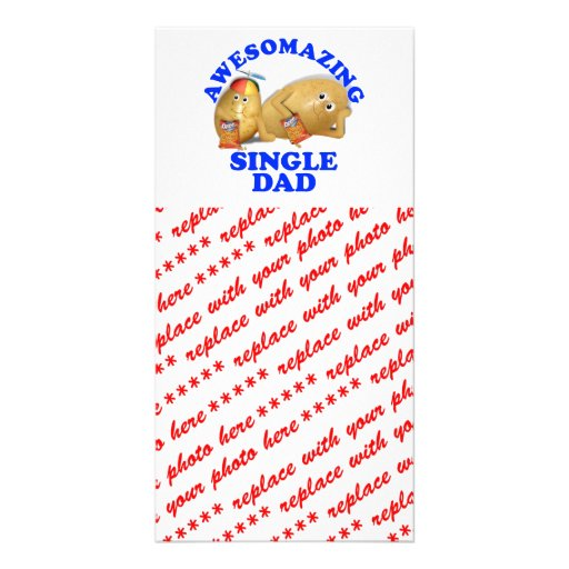 Awesomazing Single Dad - Father & Son Potatoes Customized Photo Card