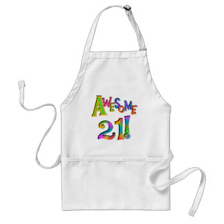 Awesome 21 Birthday T-shirts and Gifts Aprons