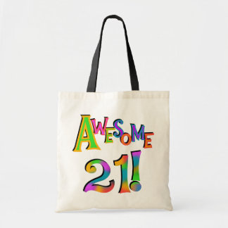Awesome 21 Birthday T-shirts and Gifts Tote Bags