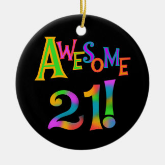 Awesome 21 Birthday T-shirts and Gifts Ornament