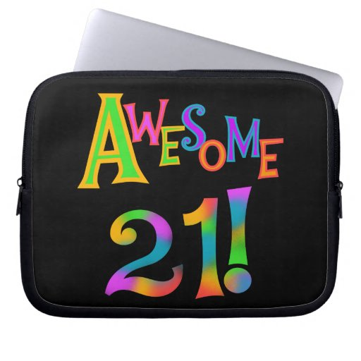Awesome 21 Birthday T-shirts and Gifts Computer Sleeve