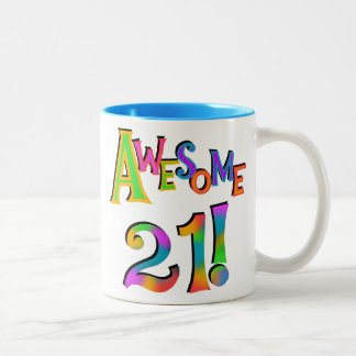 Awesome 21 Birthday T-shirts and Gifts Coffee Mugs