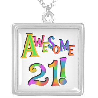 Awesome 21 Birthday T-shirts and Gifts Custom Necklace