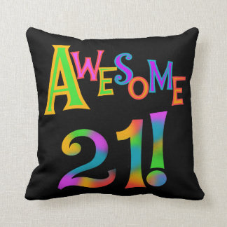 Awesome 21 Birthday T-shirts and Gifts Pillow