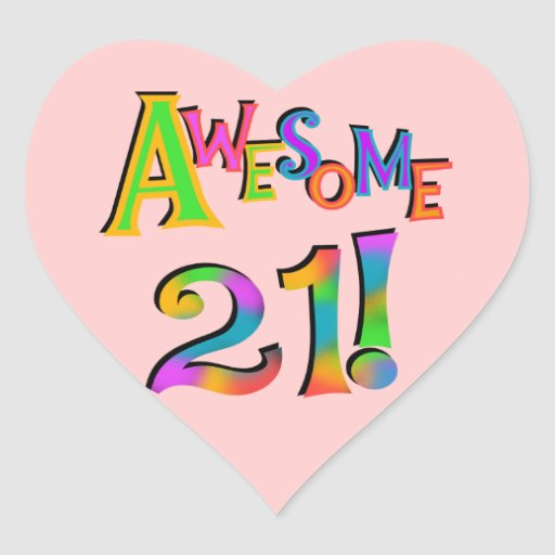 Awesome 21 Birthday T-shirts and Gifts Sticker