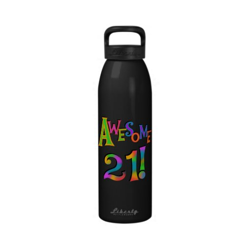 Awesome 21 Birthday T-shirts and Gifts Water Bottles