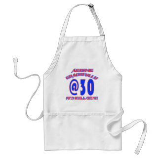 AWESOME 30 YEARS OLD BIRTHDAY DESIGNS STANDARD APRON