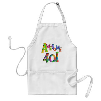Awesome 40 Birthday T-shirts and Gifts Aprons