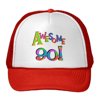 Awesome 90 Birthday T-shirts and Gifs Mesh Hats