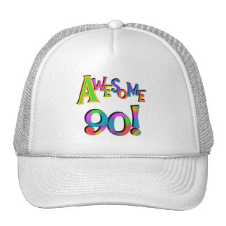 Awesome 90 Birthday T-shirts and Gifs Hat