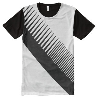 Awesome Abstract Black Comb Graphic Barbershop All-Over Print T-Shirt