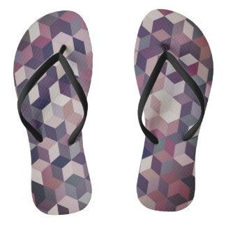 Awesome Abstract Cubes Thongs