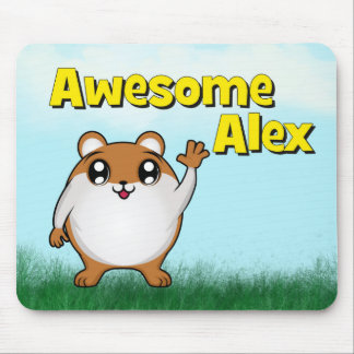 Awesome Alex waving Mouse Pad