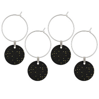 Awesome allover Stars 02A Wine Glass Charms