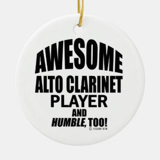 Awesome Alto Clarinet Player Ceramic Ornament