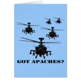 Awesome Apache helicopter Card