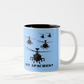 Awesome Apache helicopter Two-Tone Coffee Mug