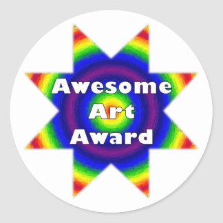 Awesome Art Award Classic Round Sticker