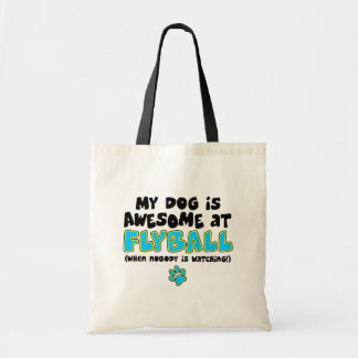Awesome at Flyball Budget Tote Bag