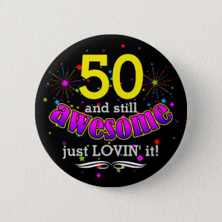 Awesome at (Your Age) Birthday Girl 6 Cm Round Badge