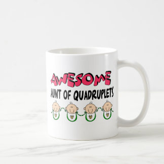 AWESOME Aunt of QUADRUPLETS Coffee Mugs