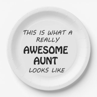 Awesome Aunt Paper Plate