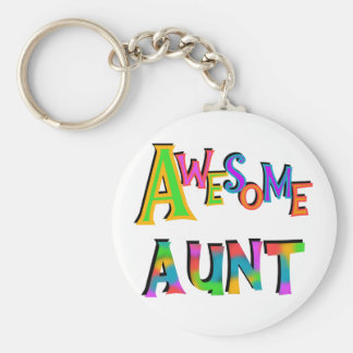 Awesome Aunt T-shirts and Gifts Key Ring