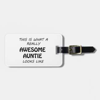Awesome Auntie Luggage Tag