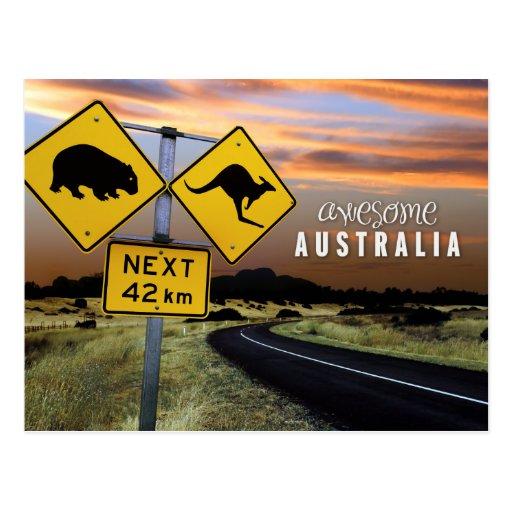 awesome australia postcard
