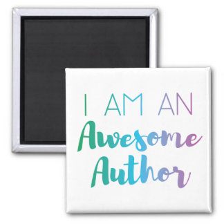 Awesome Author | Brush Typography | Square Magnet