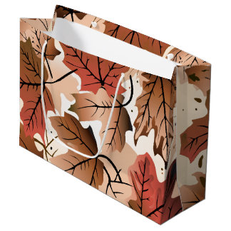 Awesome Autumn Forest Floor Lg Gift Bag