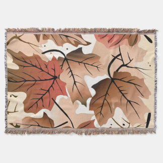 Awesome Autumn Forest Floor Throw