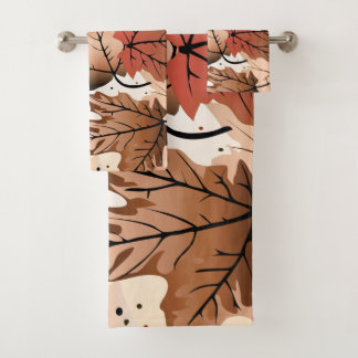 Awesome Autumn Forest Floor Towel Set